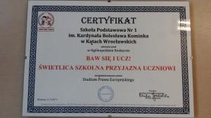 certyfikat 031